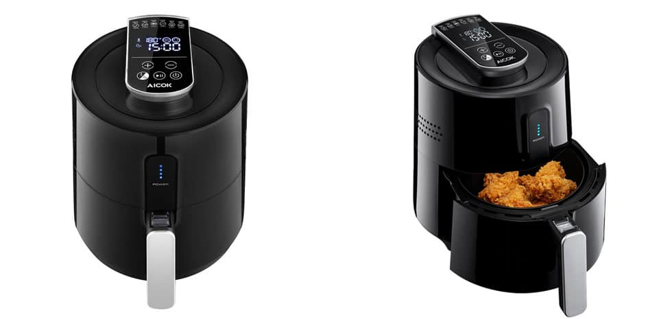 aicok oil-less deep fryer
